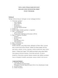 daftar isi standar penulisan referat docx