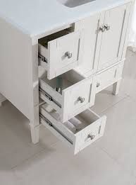 White Vanities For Bathroom by Simpli Home Chelsea 36