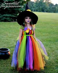 Pottery Barn Kids Witch Costume Halloween Witch Costume Tutu Dress Costume Fancy Witches Hat Sizes