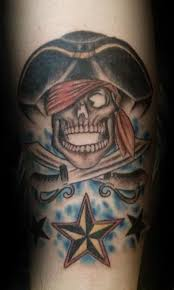 pirate skull and crossed swords and nautical