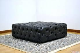 Hippo Ottoman Foot Stool Storage Living Leather Footstool Leather Footstool With