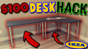 Ikea Corner Table by 100 Ikea Desk Hack Unboxing Build Linnmon L Shaped Corner Desk