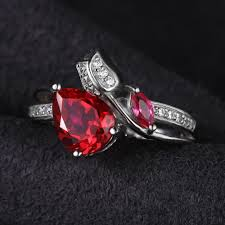 ruby sterling rings images Stunning 2 5ct ruby sterling silver ring tooty ta jpg