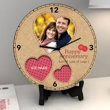 Personalized Picture Clocks Personalized Wedding Anniversary Gifts Personalised Gifts For