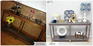 shabby to chic console table makeover just a and her blog