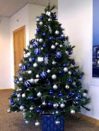 Blue Christmas Trees Decorating Ideas - elegant christmas tree decoration christmas pinterest