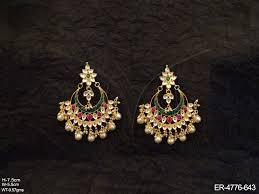 pachi work earrings kundan earrings kundan jewellery vilandi pachi rajwadi