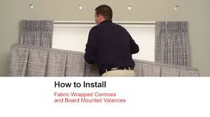 Board Mounted Valances Bali Blinds How To Install Fabric Wrapped Cornices And Board