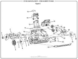 homelite ry40801 snow blower parts diagrams