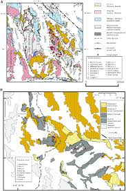 Map Of Death Valley A Sketch Geologic Map Of The Death Valley And Panamint
