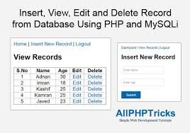 varchar date format php insert view edit and delete record from database using php and