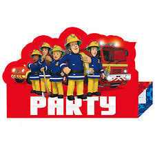 fireman sam theme invitation ebay