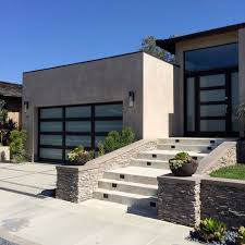 modern garage doors in an astonishing protection amaza design beautiful modern garage doors design using glass material combined with wooden frame decoration and outdoor staircase