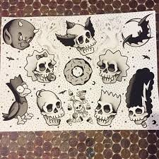 traditional flash treehouse of horror in black and