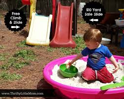 Build A Sandpit In Your Backyard Building A Super Thrifty Backyard Play Zone