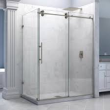 corner shower stall kits best inspiration from kennebecjetboat deluxe corner shower stall kits with frameless glass shower door and white backwall and base granite design for small bathrooms decorating ideas