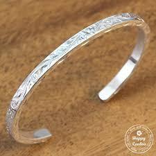silver bracelet hand images Silver bracelet with hand engraved hawaiian heritage design jpg