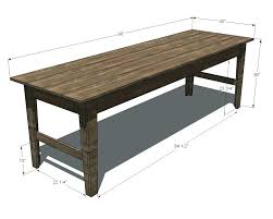 free farmhouse table plans how to build a farmhouse table plans elegant oak farmhouse table