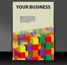 3d building blocks of book cover background design template eps