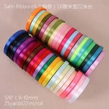 wide satin ribbon 22m silk satin ribbon 10mm wide party home wedding decoration