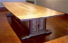 Pine Table Custom Made Reclaimed Heart Pine Conference Table By Louis Fry