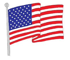waving american flag coloring page printable kids colouring