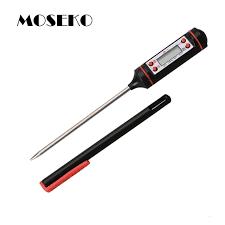 thermometre de cuisine moseko portable électronique cuisine sonde numérique bbq thermomètre