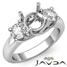 diamond three stone engagement trellis ring platinum 950 round