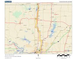 Map Of Tulsa Oklahoma Highways Us Route 75 Tulsa To Caney Ks
