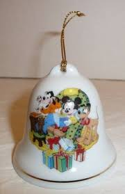 goofy mickey donald grolier collectibles disney bell holiday