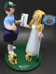 mailman postman u0027s wedding cake topper custom made mailman