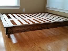Custom Platform Bed Low Profile Bed Frame Frame Decorations