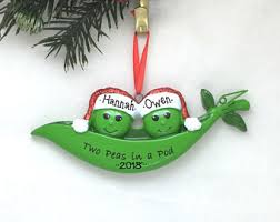 two peas in a pod ornament pea pod ornament etsy