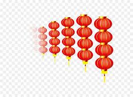 lanterns new year lantern new year light rows of lanterns png