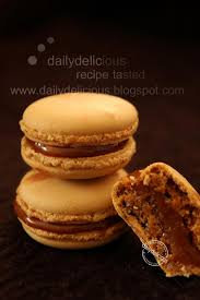 dailydelicious coffee macarons with caramel coffee ganache less
