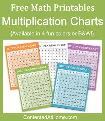 free math printables multiplication charts contented at home