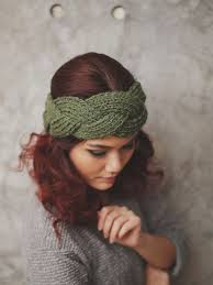 knitted headband knit headband to style your hair cottageartcreations