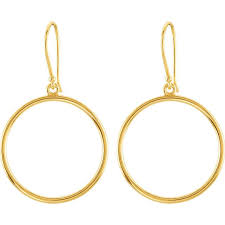 gold circle earrings 14 karat yellow gold circle dangle earrings mrs jones company