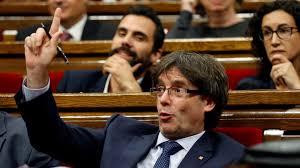catalonia u0027s president puigdemont wins confidence vote