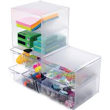 Desk Organizer With Drawer by Plastic Cube Organizer Walmart Com