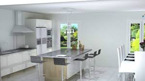 photo cuisine avec ilot central cuisine avec ilot central néo blanc brillant cuisiniste bordeaux
