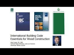 International Building Code Bcd410 1 International Building Code Essentials For Wood