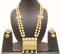 gold pearl necklace sets images Long gold pearl necklace set styledeco styledeco jpg