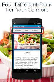 paleo diet plan android apps on google play