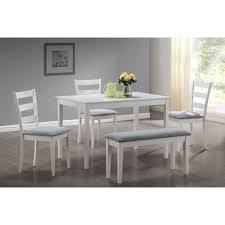 11 Piece Patio Dining Set - monarch specialties white 5 piece dining set with bench u0026 side