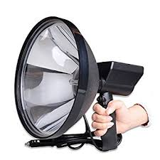 hand held spot light amazon amazon com hid handheld spotlight ultra bright 1 5km light distance