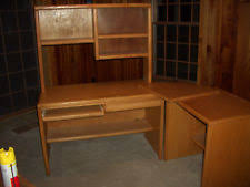 Solid Wood Corner Desk Solid Wood Corner Desks L Shaped Desks Office Furniture Ebay