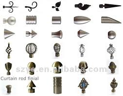 Metal Curtain Rods And Finials I Need The Best Word For The U0027end U0027 Of The Curtain Rod