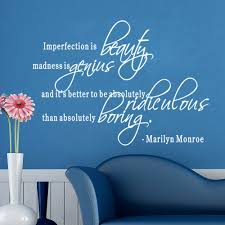 high quality beauty inspirational quotes buy cheap beauty marilyn monroe quote imperfection is beauty inspirational wall stickers bedroom living room diy decorative mural