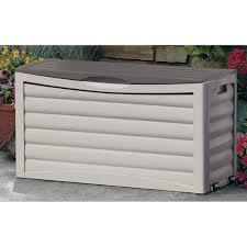 Patio Storage Chest by Suncast Resin 99 Gallon Deck Box Mocha Brown Dbw9200 Hayneedle